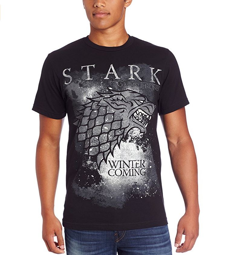 Game of thrones men s winter is coming stark t shirt for Game of thrones gifts for men