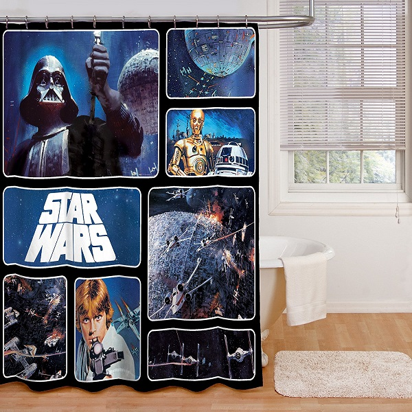 Star Wars Shower Curtain Novelty Gift Ideas