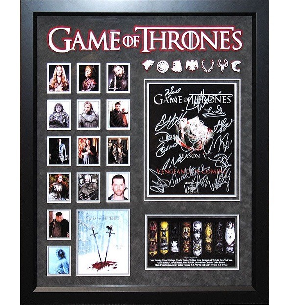 Game of thrones cast signed 11 14 collage novelty gift for Game of thrones gifts for men