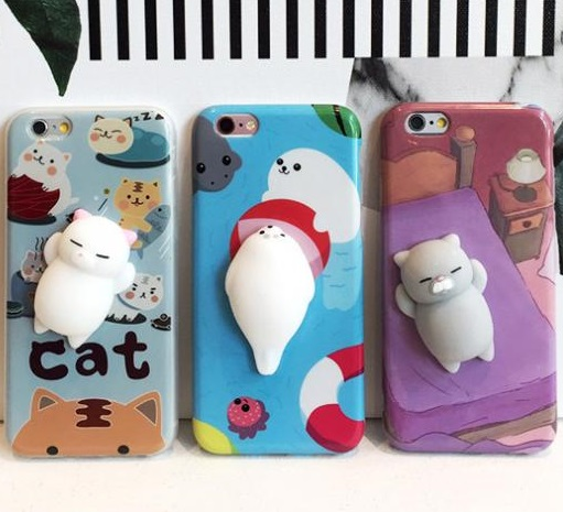 Squishy Animals For Phone Case : Squishy Cat iPhone Case ? Novelty Gift Ideas