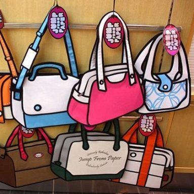 3D Style Cartoon Bag