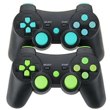 2pcs Pack Wireless Double Vibration Controller for PS3
