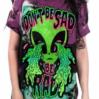 Don't be Sad Be Rad 3D Print T-shirt
