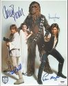 Star Wars Cast FORD, HAMILL, FISHER, MAYHEW Signed Photo