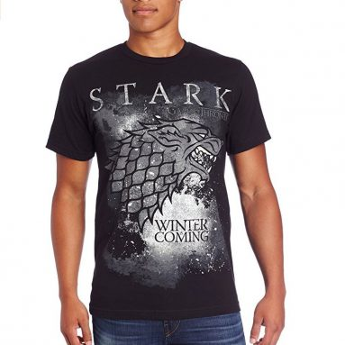 Game of Thrones Men's Winter Is Coming Stark T-Shirt